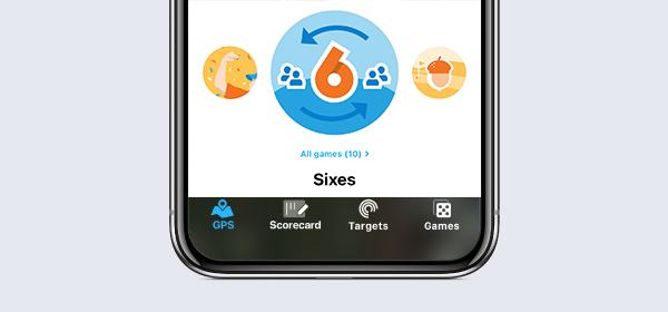 Sixes golf game