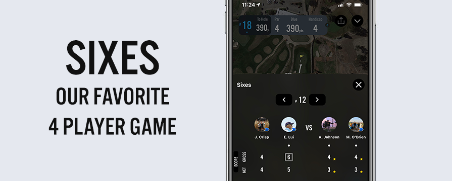 Play the Sixes golf game with the 18Birdies App feature image